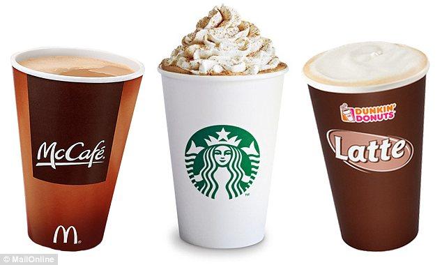 Pumpkin Lattes Mcdonalds , Starbucks , Dunkin Donuts